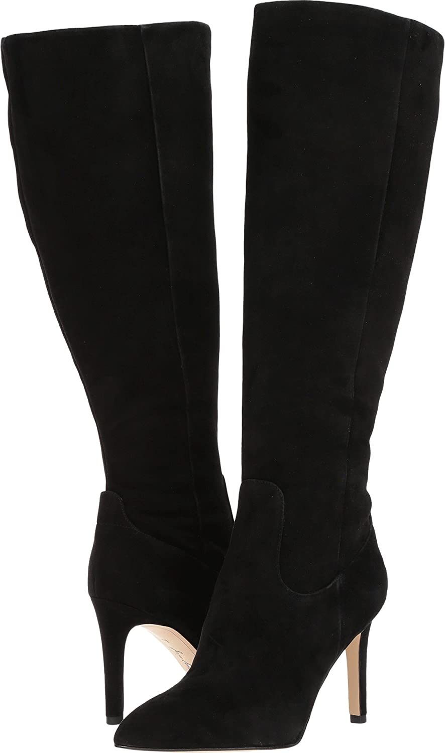 Sam Edelman Women's Olencia Knee High Boot B06XJ5L1D6 8 C/D US|Black Kid Suede Leather