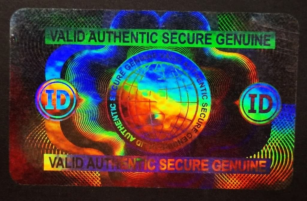 Hologram Overlays Oversized Shield and Key Inkjet Teslin ID Cards Lot of 50