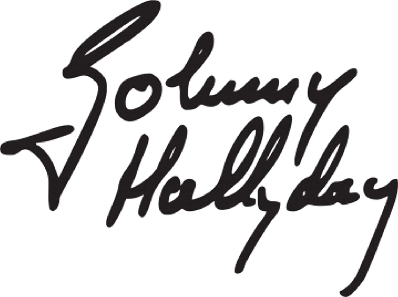 Print Corner Sticker Autocollant Signature Johnny HALLYDAY