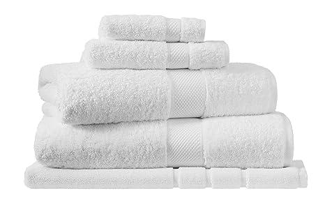 Royal Sheridan - Toallas de algodón Peinado Egipcio de Lujo, Snow, Alfombra de baño