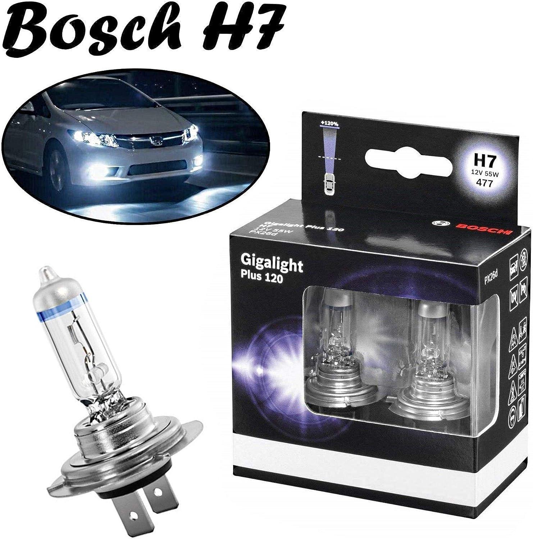2x Bosch H7 55w 12v Px26d 1987301107 Gigalight Plus 120 Hell Weiß Xenon Look White Ersatz Scheinwerfer Halogen Auto Lampe E Geprüft Auto
