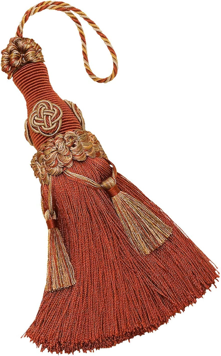 DÉCOPRO Decorative 6 inch Key Tassel/Rust Gold/Baroque Collection Style# BKT Color: Cinnamon Toast - 6122
