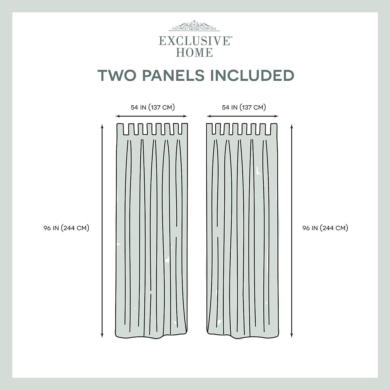 Exclusive Home Curtains Miami VT Panel Pair 54 x 84 White