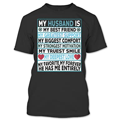 Amazoncom Crazy Fan Store Husband Is My Best Friend T Shirt My