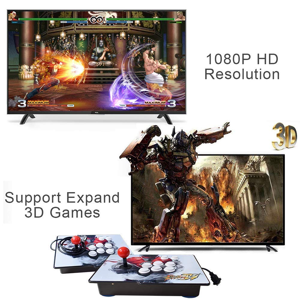 PinPle Arcade Game Console 1080P 3D & 2D Games 2260 2 in 1 Pandora's Box 3D 2 Players Arcade Machine with Arcade Joystick Support Expand Games for PC / Laptop / TV / PS4 (Pandora's Box) by PinPle (Image #2)