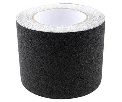 Black High Grip Anti Slip Tape Non Slip Adhesive Backed Tape 15CMx10M
