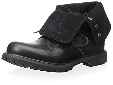 womens timberland black authentics roll-top boots