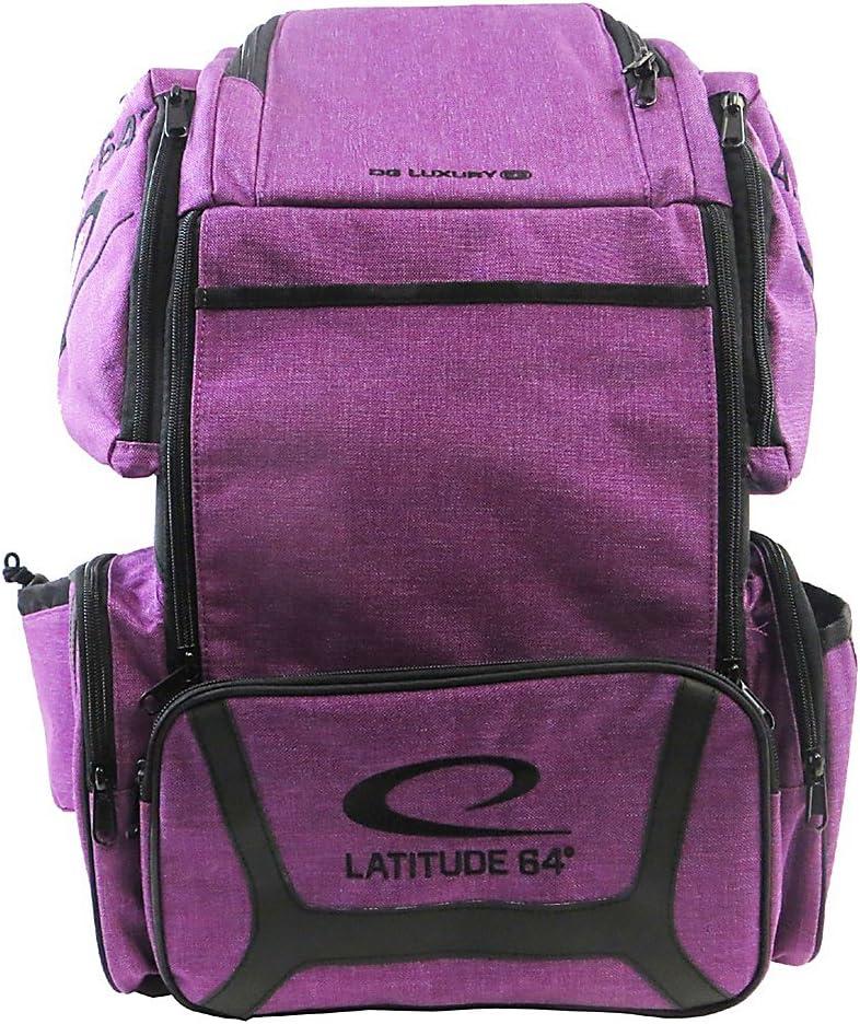 Latitude 64 DG Luxury e3バックパックディスクゴルフバッグパープル/ブラック