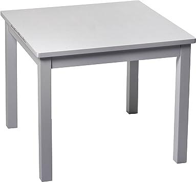Pioupiou y Maravillas caucho mesa para niños gris 60 x 60 cm ...