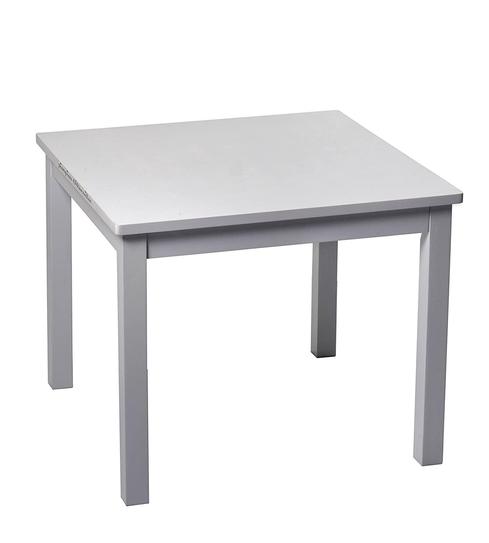 Pioupiou et Merveilles Hévéa Table pour Enfant Gris 60 x 60 cm SHSS8 16270