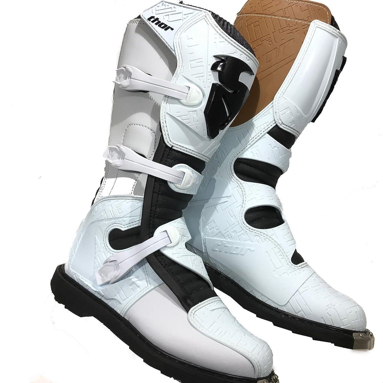 Motocross Botas Thor Blitz HOMOLOGADO Adultos ATV Quad Off Road Reforzado Zapatos Blanco (EU 43/UK 9): Amazon.es: Coche y moto