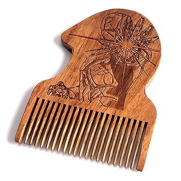 Avengers Iron Man Beard Comb Mens Wooden Facial Hair Brush Beard Gains