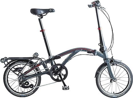 Dahon Curl i4, Bicicleta Plegable Unisex Adulto, Antracita, 16 ...