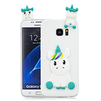 HopMore Funda Samsung Galaxy S7 Edge Silicona Motivo 3D ...