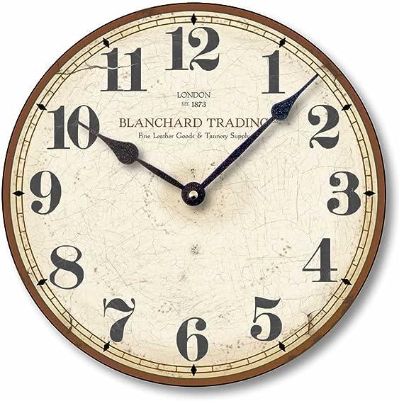 Fairy Freckles Studios Item C6029 Antique Style Merchant Clock 12 Inch Diameter