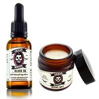 Kit para el Cuidado de Barba y Bigote I 100% Natural Premium Aceite & Cera