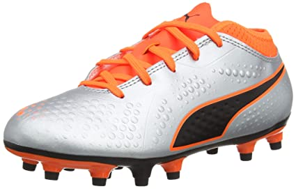 9c2bf4ab0c83 Amazon.com: PUMA ONE 4 Synthetic Firm Ground Junior Football Boots ...