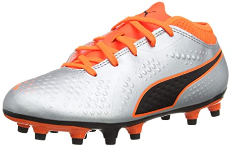 54fc760bb PUMA ONE 4 Synthetic Firm Ground Junior Football Boots - Silver, Soccer -  Amazon Canada