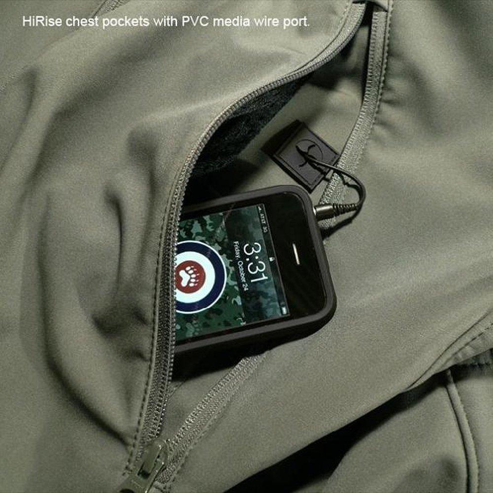 Fochu@ Hombres impermeable al aire libre chaqueta polar caza Tactical Softshell chaqueta libre con capucha abrigo (Ejercito verde, Español tamaño XS / Fabricante tamaño S) 44318c