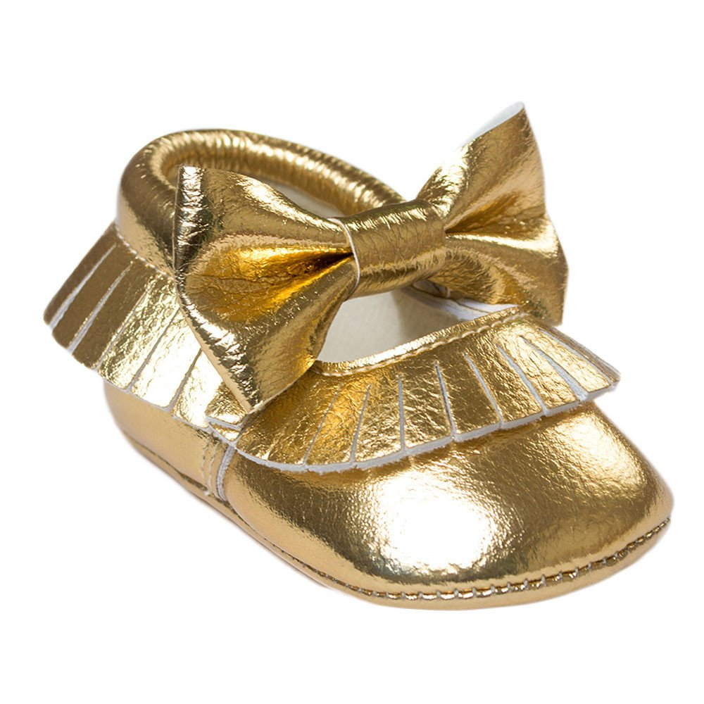 kingko® Baby Girl Infant Noewborn Bowknot Glands Chaussures Toddler Souple Sole Sneakers Chaussures Casual