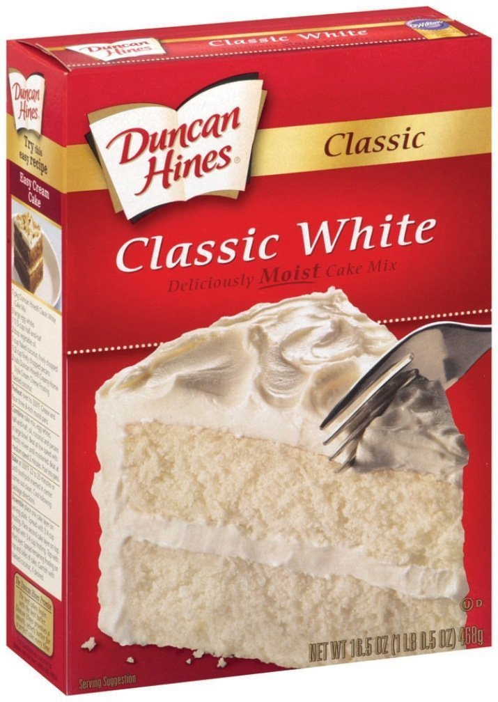 Duncan Hines, Classic White Cake Mix, 16.50oz Box (Pack of 2)
