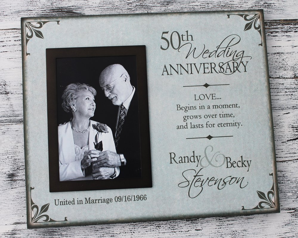 50th Wedding Anniversary Picture Frame, 25th wedding anniversary, wedding picture frames personalized