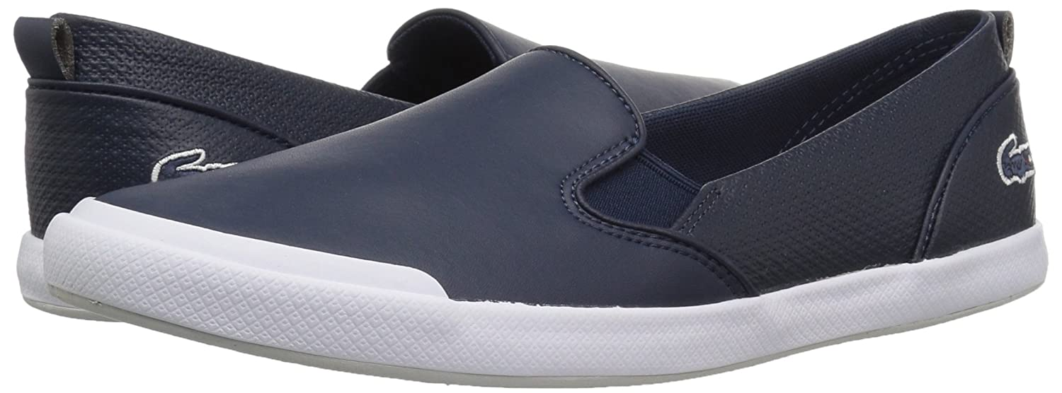 Lacoste Women's Lancelle Slip-ONS B072VCQ64H 8 B(M) US|Nvy/Ltgry Synthetic