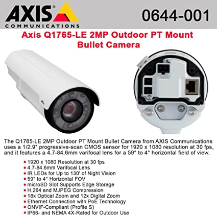 AXIS Q1765-LE NETWORK CAMERA DRIVERS FOR WINDOWS