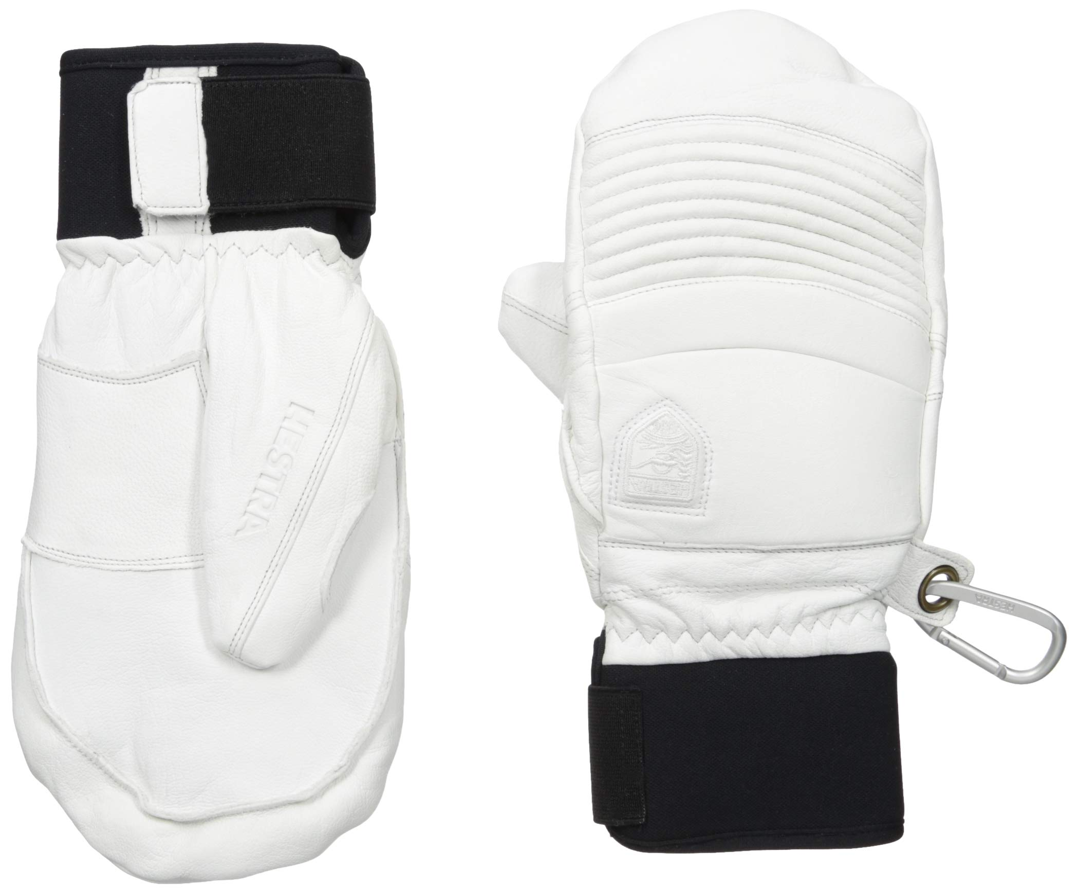 Hestra Mens Ski Gloves: Fall Line Winter Cold Weather Leather Mittens, Off White, 9