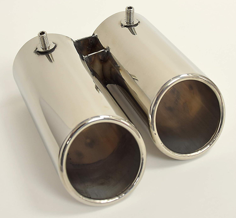 RDi 56843-61 DoradoTuning Car Exhaust Muffler Tip//Tailpipe//Stainless Steel Chrome Tail Throat//Pipe Tip Tail Muffler Universal 61mm
