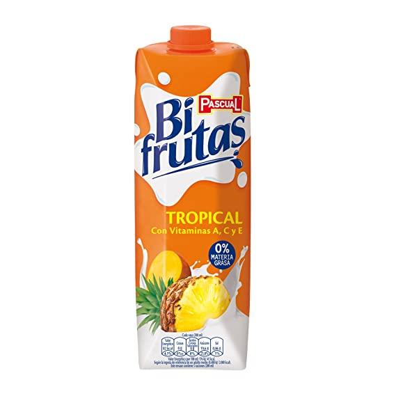 Pascual Bifrutas - Zumo de frutas, tropical, 1l - [pack de 4]