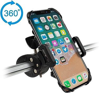 Hihill Soporte Móvil Bicicleta, Soporte Universal Manillar para de Bicicleta de montaña y Motocicleta, Soporte para iPhone X, 7/7 Plus, 6/6s, Samsung Galaxy y 4.5