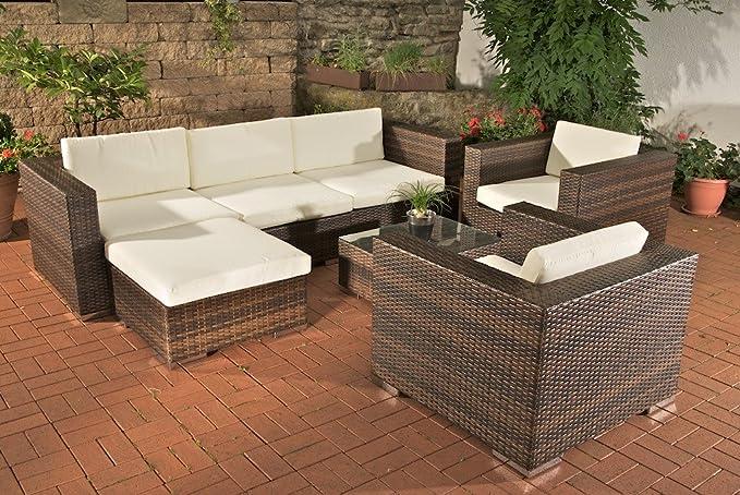 Homy - Conjunto Sofas de Jardín, 1 Sofa 3 plazas + 2 Sofas ...