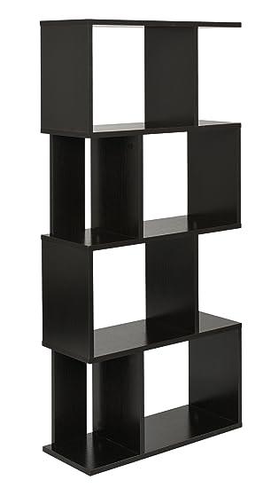 ts-ideen Design Regal Hochregal Standregal Bücherregal CD-Regal Holz 128 x 60 cm