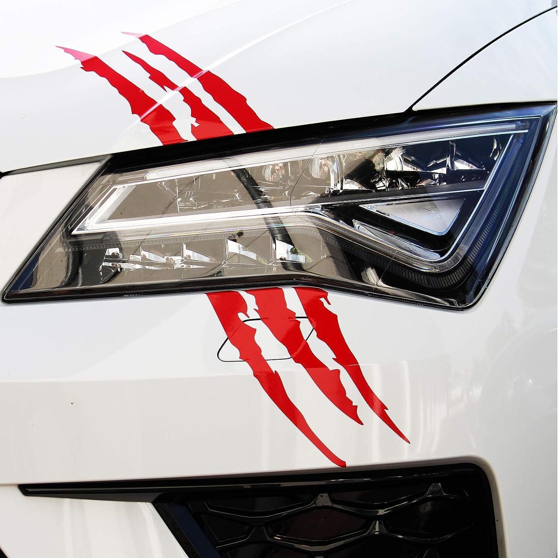 Finest Folia Devil Cut Aufkleber Klauen Krallen Tiger Auto Lkw Dekor Sticker K053 Karminrot Auto