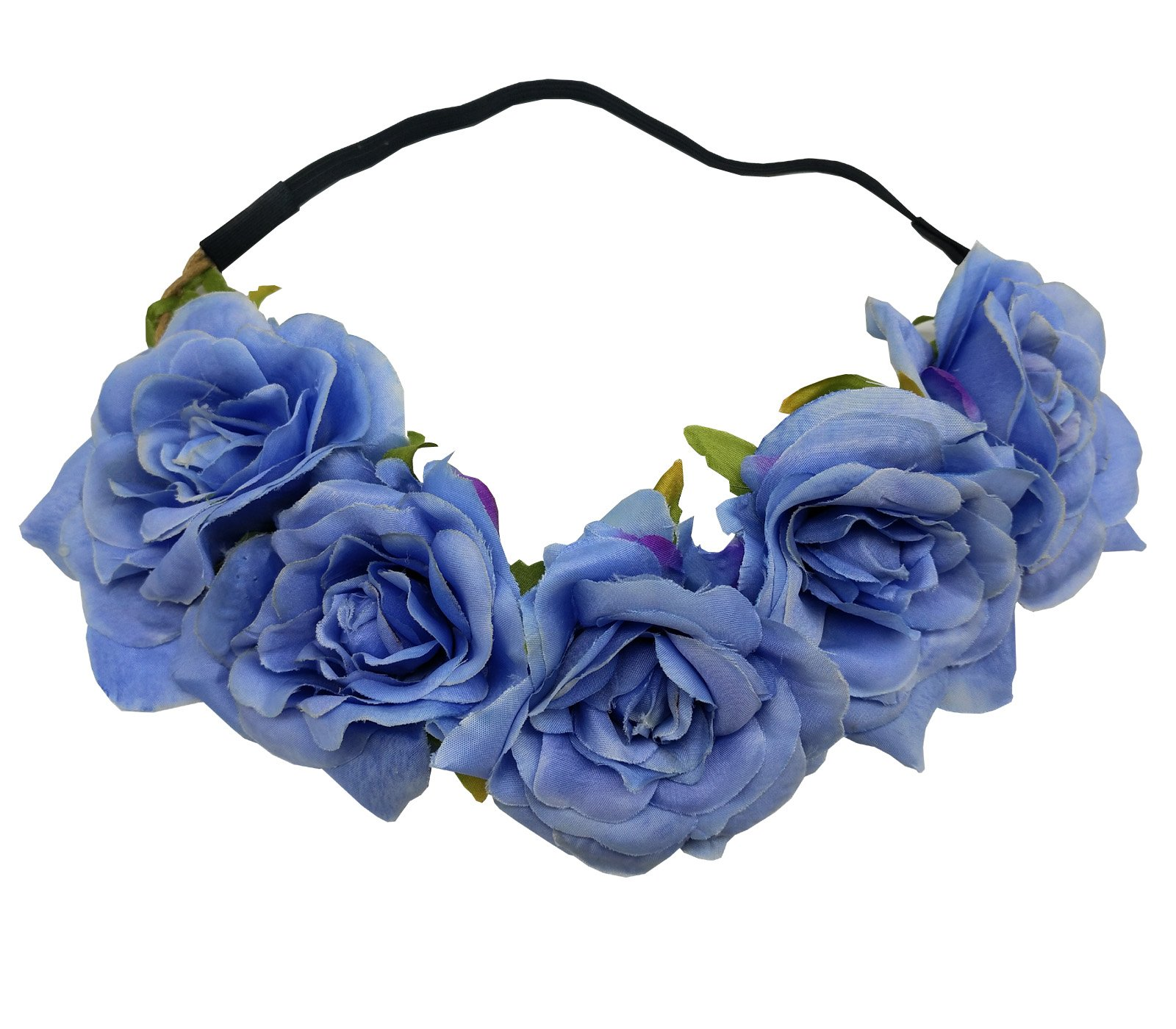 Amazon sanrich fake flower crowns headbands for women girl sanrich fake flower crowns headbands for women girl rose floral head piece maternity photoshoot realistic hair izmirmasajfo