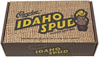 product image for 12 CT Mailer Box of Famous Idaho Spud Chocolate Candy Bars. Full Size Bars in a Specialty Candy Box. Soft Marshmallow Center Drenched with a Dark Chocolate Coating Sprinkled with Coconut.
