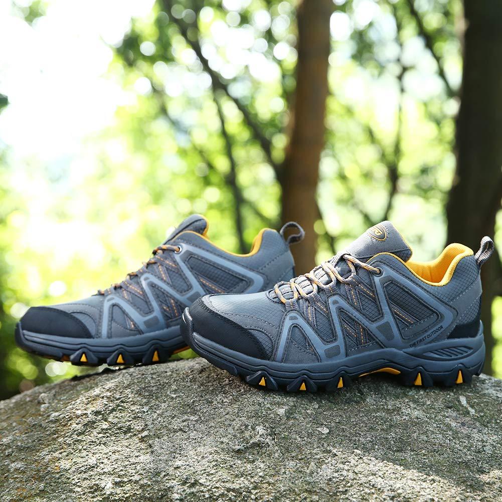 TFO Herren Trekking /& Wanderschuhe Wasserabweisende und Atmungsaktive Outdoor Schuhe mit Rutschfester Sohle