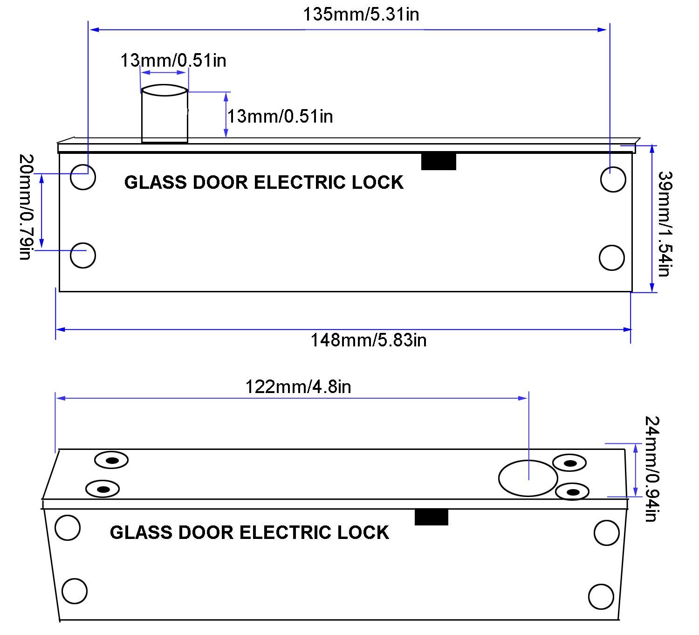 UHPPOTE Fail Safe Sturdiness Elektrische Schraube Plug Lock W Feedback Signal f/ür schmale T/ür