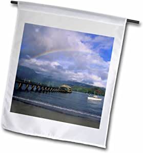 Danita Delimont - Hawaii - Hanalei Pier, Hanalei, Kauai, Hawaii - US12 DPB0257 - Douglas Peebles - 12 x 18 inch Garden Flag (fl_89564_1)
