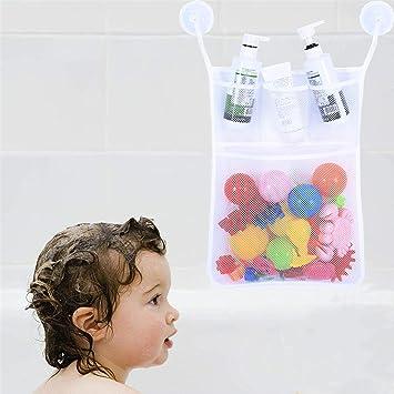 Bath Tub Organizer Bags Holder Storage Basket Kid Baby Shower Toys Net Bathtub—A