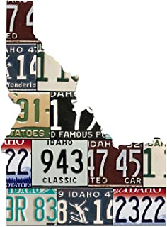 product image for IDAHO License Plate Plasma Cut Map Sign, Famous Potatoes Metal Sign Home Decor Garage Art Great Gift Man Cave UV Printed Rustic Sign Birthday Gift Patriotic Sign