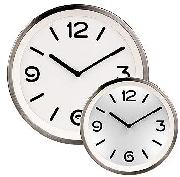 St Leonhard Beleuchtete Uhr Edelstahl Quarz Wanduhr Mit