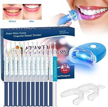 Kit de Blanqueamiento de Dientes, BREETT Blanqueador Dental Profesional Teeth Whitening Kit, Para Manchas de Humo Geles blanqueamiento 12: Amazon.es: Salud y cuidado personal