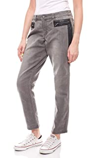 Sheego Damen Hose Stretch-Jeans Denim im Biker-Look Große Größe Kurzgröße  Grau 971815b864
