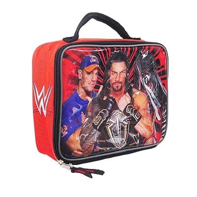 Accessory Innovations WWE Lunch Box Soft Kit Insulated Cooler Bag John Cena Roman Reigns Finn Balor: Kitchen & Dining