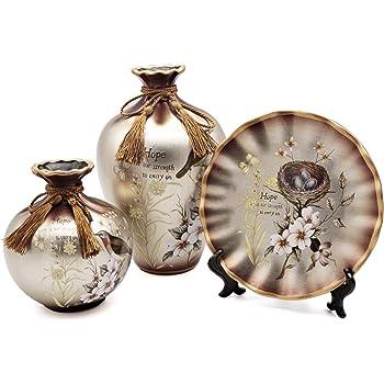Amazon Newqz China Vase Ceramic Vase Set Of 3 Pieces Chinese
