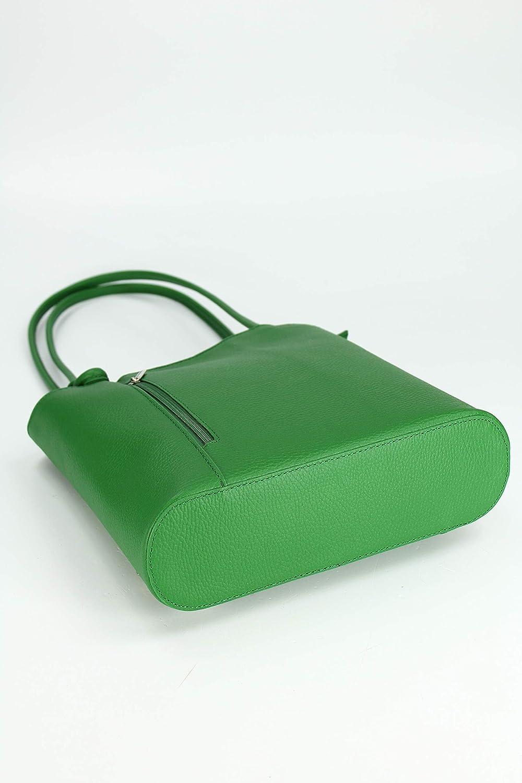 Belli italienische Ledertasche Backpack 2in1 2in1 2in1 Damen Rucksack Leder Handtasche Schultertasche - Freie Farbwahl - 28x28x8 cm (B x H x T) B07N895H5L Schultertaschen Sehr gute Farbe b660b5