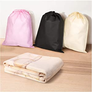 Shoes Clothing Dustproof Storage Packaging Bag Environmentally Friendly Double Drawstring Bag,35X45Cm,White