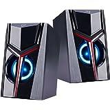 COOSEON Altavoces para Ordenador, Altavoces Multimedia estéreo Luminosos en Color, Altavoces LED duales, Ordenadores de sobre